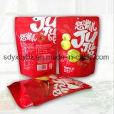 Größe kundenspezifische Fastfood- Reißverschluss-Plastiktasche/Doypack