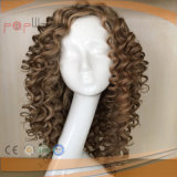 All-Hand Tied PU Personnaliser la couleur claire Deep Afro Curls Women Wig