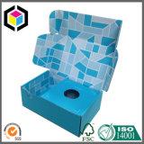 色刷のホールダーが付いている折るボール紙のペーパー荷箱