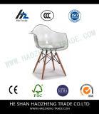 Profundamente - pé recreacional plástico de madeira cor-de-rosa da cadeira Hzpc125