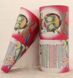 Eco freundlicher spezieller geformter Gesichtsschablonen-Film, Aluminiumfolie-gedruckter kosmetischer Polyverpackenbeutel