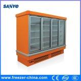 Multi refrigerador de vidro comercial do indicador da porta para o gelado