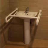 Gli handicappati fissati al muro della barra di gru a benna del Lavabo della toilette afferrano le rotaie