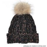 Шлема Beanie жаккарда шлема зимы Beanie шлема шлема POM Knit акрилового изготовленный на заказ связанный POM