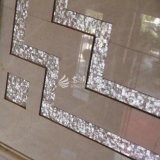 Weiße quadratische Mosaik-Fliese des Lippenmopp-Shell-15*15mm