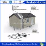O Prefab/modular de aço/móvel/pré-fabricaram a casa para a moradia