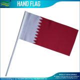 Flagpole plástico/de madeira/de aço nas bandeiras de ondulação da mão (B-NF01P02016)