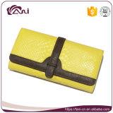 Ultima borsa cinese per le signore, disegno di cuoio di Fani di modo del raccoglitore dell'unità di elaborazione di colore giallo