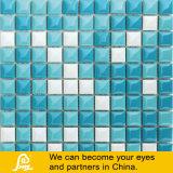 Mosaico de cerámica de la piscina de la venta del pan de la mezcla azul caliente de la dimensión de una variable