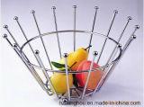 Стеллаж для выставки товаров кухни корзины плодоовощ провода металла Minghou