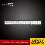 luz de la barra ligera 4X4 del CREE de 23inch 126W