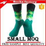 Изготовленный на заказ носок с носками платья лодыжки носка Argyle дела людей логоса вскользь