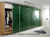 Cor Tempered pintada de vidro para a porta do Wardrobe