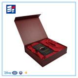 Relógio/composição/eletrônica/caixa presente de empacotamento personalizada vinho da pena