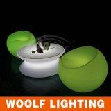 Mesa de centro iluminada jardín brillante de los colores LED