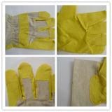Geel pvc van Ddsafety 2017 met de Witte Katoenen Handschoenen van het Achtertuintje