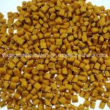 Pelotillas plásticas polimorfas de la alta calidad al por mayor que llenan el color Masterbatch de los gránulos de oro
