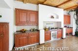 Cabina de cocina de madera del PVC del alto lustre moderno con la isla