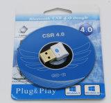 Adaptador sin hilos del receptor de Bluetooth del sonido de la música del Dongle del adaptador V4.0 Bluetooth del USB Bluetooth para la computadora portátil de la PC del ordenador