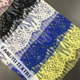 Tessuto di nylon del merletto del cotone per gli indumenti delle signore