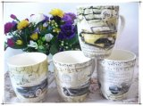 Hermoso diseño de café tazas de cerámica