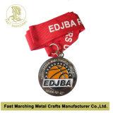 Серебряная медаль с влиянием Sandblasting