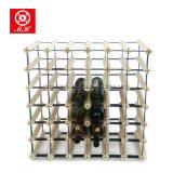 Estantes de visualización premontados 42 botellas del vino del metal y del pino
