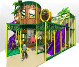 Campo de jogos interno temático da selva segura do divertimento do elogio para miúdos