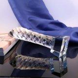 Trophée en cristal en verre du cylindre K9 pour le souvenir