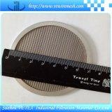 Disco del filtro usado para filtrar el aire
