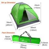 La tenda Backpacking di campeggio della persona del peso leggero 2 con trasporta il sacchetto, multi