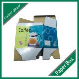 Caja de cartón de empaquetado superior impresa de la imagen doble por la lámina para el crisol del café