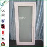 PVC de plástico francesa único panel de apertura hacia el interior de la puerta abatible Patio