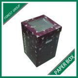 새로운 마분지 물결 모양 꽃 명확한 PVC Windows를 가진 포장 상자 과일 상자