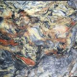 Buntes Polyester-Gewebe, hölzernes Gewebe, Dekoration-Gewebe, Colorfur Schleier