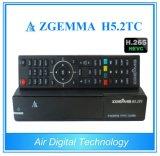 2017 o ósmio combinado super novo E2 DVB-S2+2*DVB-T2/C do linux de Zgemma H5.2tc Bcm73625 da caixa da venda HDTV Dual afinadores com Hevc/H. 265