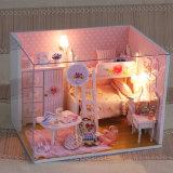 소녀를 위한 분홍색 소형 2단 침대 DIY 장난감