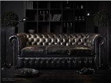 Sofá de couro europeu simples da sala de visitas e do hotel