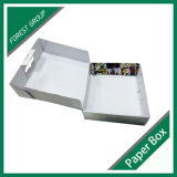 Rectángulo de papel acanalado que empaqueta el empaquetado de encargo del rectángulo
