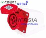 4p 6h IP44 16A Superfície Cee / IEC PP / PA industrial Soquete Montado
