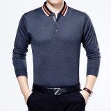 Chemise de polo pure de la couleur de 2016 d'automne hommes chauds de vente
