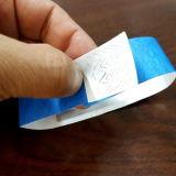 Pulsera de encargo de la identificación del wristband del acontecimiento TYVEK del festival