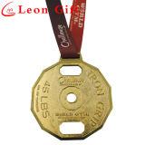 Оптовый изготовленный на заказ сплав цинка резвится золотые медали для чемпионата
