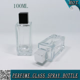 100ml Rectangular Clear Empty Perfume Garrafa de vidro Peso 100 Ml
