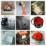 Manufatura profissional da caixa luxuosa acrílica da flor