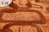 Tissu orange de sofa et de meubles de jacquard de Chenille par 290GSM