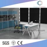 Escritorio de oficina moderno de la melamina del marco del metal blanco de los muebles