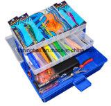 2-Tray löschen Deckel-Plastik organisierten Kasten