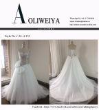 Aoliweiya perlou vestidos de casamento nupciais brandnew do corpete