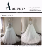 Vestido de casamento nupcial brandnew de Aoliweiya com laço delicado